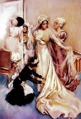 Bride Mixed Media - Memories Of A Bride by Georgiana Romanovna