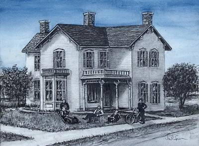 Heartland Drawing - Memories Of A House by Todd Spaur