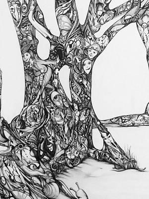 Memories Of A Joshua Tree Art Print by Mary Simms