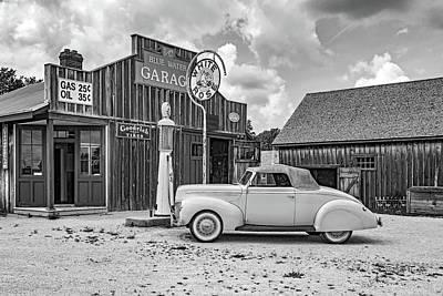 Car Repairs Photograph - Memories Of A Simpler Time 2 Bw by Steve Harrington
