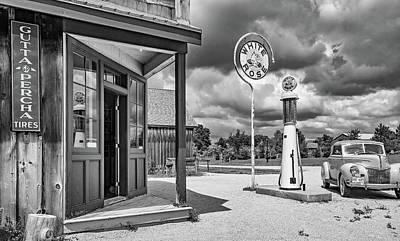 Car Repairs Photograph - Memories Of A Simpler Time 4 Bw by Steve Harrington