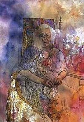 Woman In Rocking Chair Painting - Memories Of Adeline by Wendy Hill