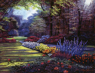 Memories Of Beacon Hill Park Art Print by David Lloyd Glover