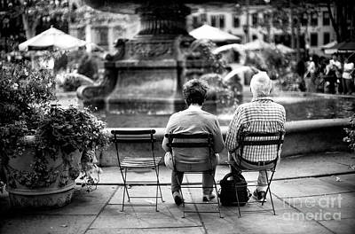 Photograph - Memories Of Bryant Park by John Rizzuto