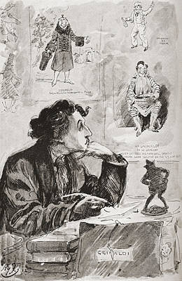Great Expectations Drawing - Memories Of Grimaldi. Illustration by Vintage Design Pics