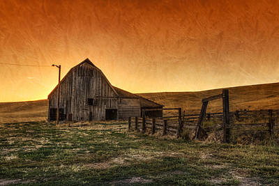 Old Fence Photograph - Memories Of Harvest by Mark Kiver