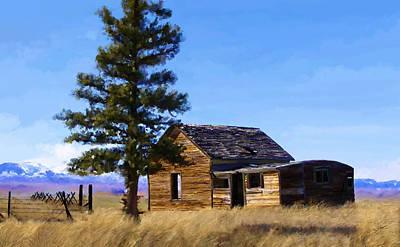Memories Of Montana Art Print by Susan Kinney