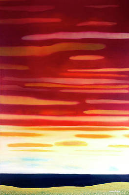 Painting - Red Sunset by Maria Rizzo