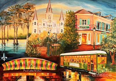 Landmarks Painting Royalty Free Images - Memories of New Orleans Royalty-Free Image by Diane Millsap