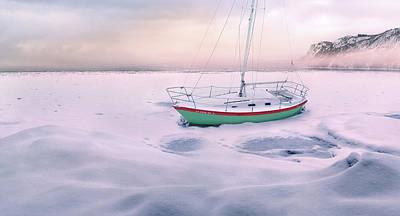 Photograph - Memories Of Seasons Past - Prisoner Of Ice by John Poon