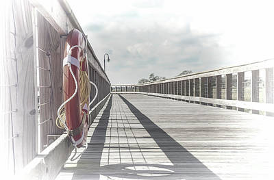 Photograph - Memories Of Shem Creek Boardwalk by Sharon McConnell