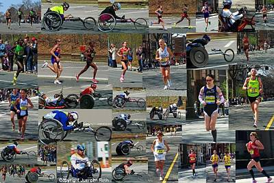 Photograph - Memories Of The 2011 Boston Marathon by Juergen Roth