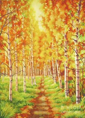 Painting - Memories Of The Birch Country by Inese Poga