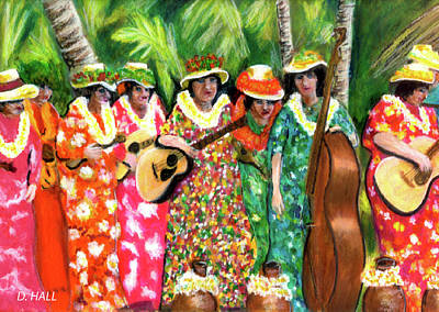 Memories Of The Kodak Hula Show At Kapiolani Park In Honolulu #20 Art Print by Donald k Hall