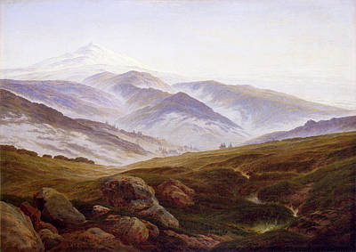 David Painting - Memories Of The Riesengebirge by Caspar David Friedrich