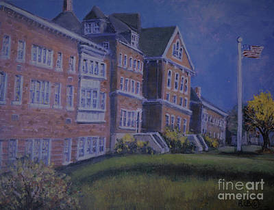 Painting - Memories Of Waltham High School by Rita Brown