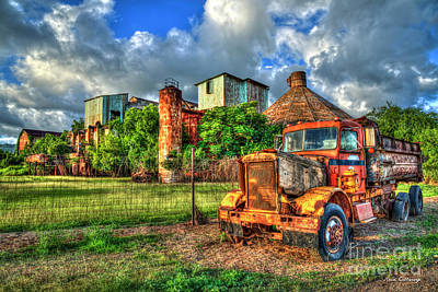 Photograph - Memories Old Koloa Sugar Mill Sunset Kauai Landscape Art by Reid Callaway