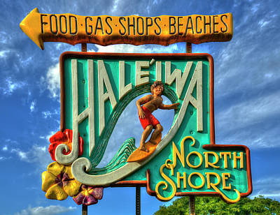 Photograph - Memories This Way Haleiwa Sign North Shore Hawaii Collection Art by Reid Callaway