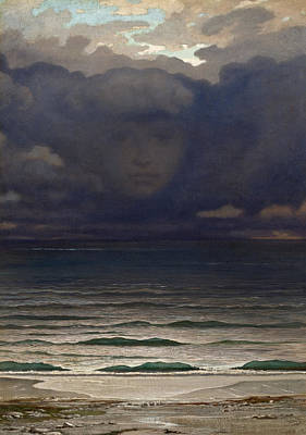 Optical Illusion Painting - Memory by Elihu Vedder