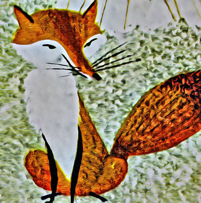 Eames Photograph - Memory Game Fox by  Judy Bernier