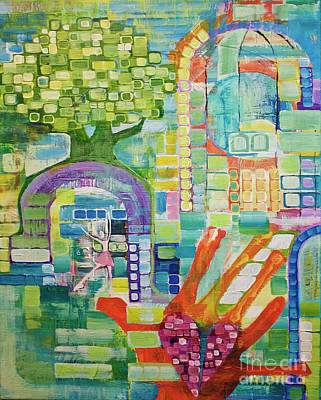 Painting - Memory Garden by Donna Howard
