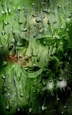 Art Print featuring the digital art Memory In The Rain by Darren Cannell