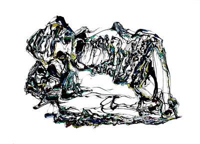 Drawing - Memory Mixer by Daniel Schubarth