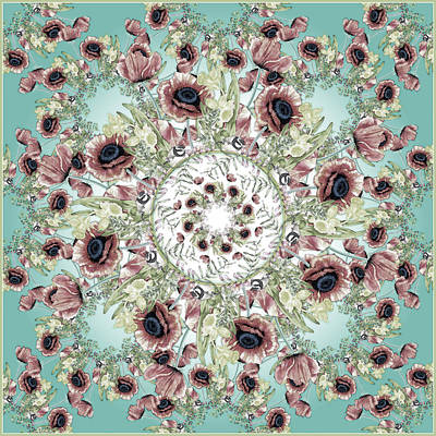 Digital Art - Memory Of Spring Turquoise by Deborah Runham