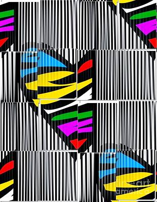 Memory Popart Heart By Nico Bielow  Art Print by Nico Bielow