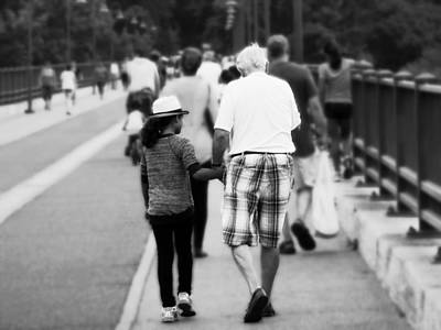 Photograph - Memory With Grandpa by Zinvolle Art