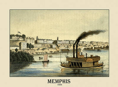 Photograph - Memphis 1855 by Andrew Fare