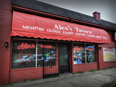 Photograph - Memphis - Alex's Tavern 001 by Lance Vaughn
