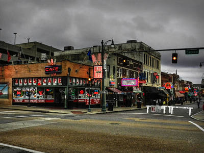 Rock And Roll Photograph - Memphis - Beale Street 002 by Lance Vaughn