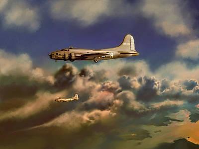 Painting - Memphis Belle by Dave Luebbert