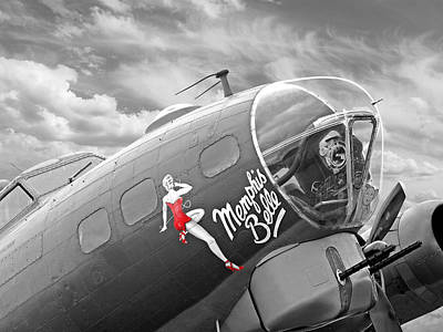 Noseart Photograph - Memphis Belle by Gill Billington