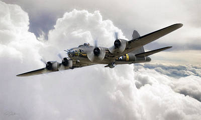 Memphis Belle Art Print by Peter Chilelli