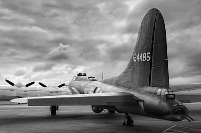 Photograph - Memphis Belle Under Heavy Skies - 2018 Christopher Buff, Www.avi by Chris Buff