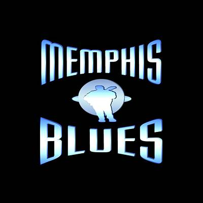 Mixed Media - Memphis Blues Music Design by Art America Gallery Peter Potter