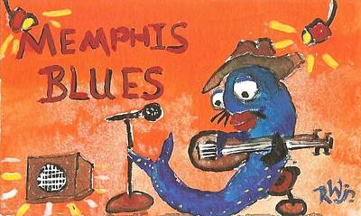 Painting - Memphis Blues by Robert Wolverton Jr