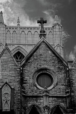 Photograph - Memphis Cross In The Clouds Bw by Lesa Fine