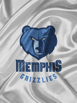 Dunk Digital Art - Memphis Grizzlies by Afterdarkness