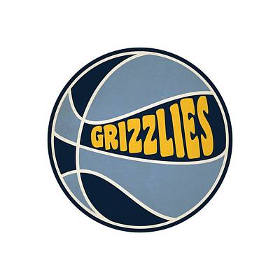 Clip Art Photograph - Memphis Grizzlies Retro Shirt by Joe Hamilton