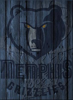 Photograph - Memphis Grizzlies Wood Fence by Joe Hamilton
