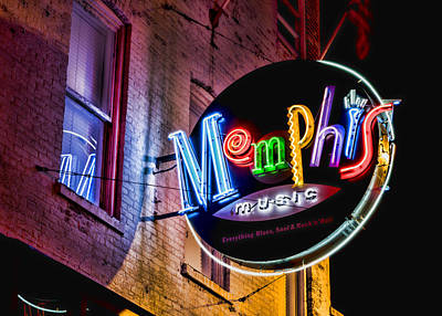 Memphis Music Art Print by Stephen Stookey