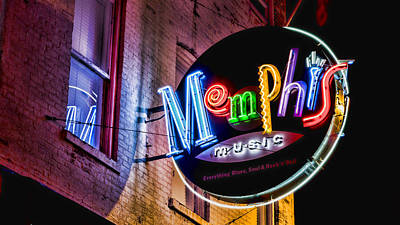 Rhythm And Blues Photograph - Memphis Neon by Stephen Stookey