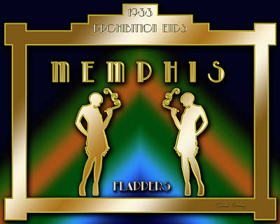 Digital Art - Memphis Prohibition by Chuck Staley
