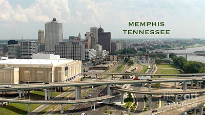 Digital Art - Memphis Skyline View From Pyramid by Karen Francis