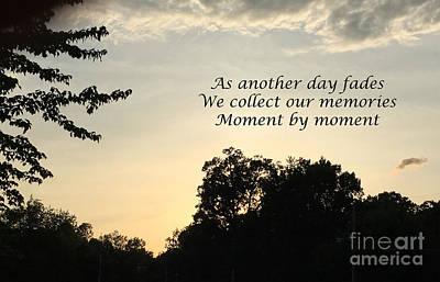 Photograph - Memphis Sunset Haiku by Leona Atkinson