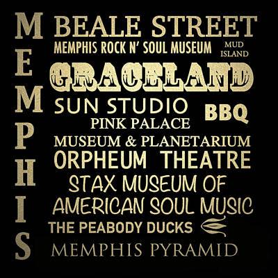 Memphis Tennessee Famous Landmarks Art Print