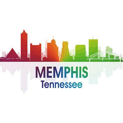 Memphis Tn 1 Squared Art Print by Angelina Vick